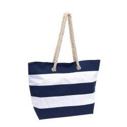 Geanta de plaja SYLT, albastru alb