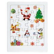 Puzzle cu design de Craciun, 15 x 12 x 0,3 cm, Everestus, 20SEP0977, Hartie, Alb