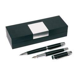 Set pix si stilou, negru, argintiu, Everestus, SS18MI, alama, lupa de citit inclusa