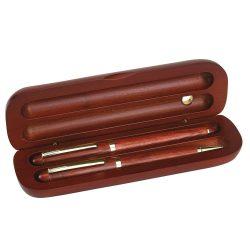 Set de intrumente scris, maro, Everestus, SS02PT, lemn