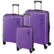 Set 3 trolere de dimensiuni diferite, cu cifru de blocare TSA, Everestus, 20FEB0260, Polipropilena, Mov