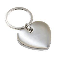 Breloc inima, Everestus, KR0205, aliaj de zinc, otel inoxidabil, argintiu