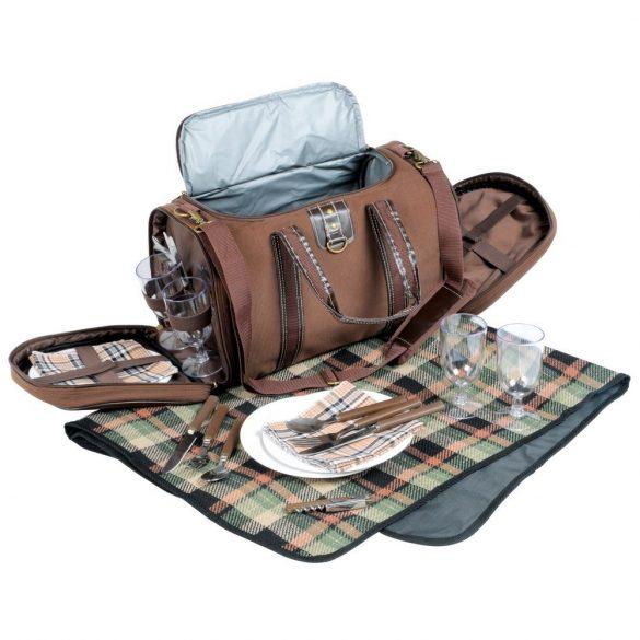 Geanta de picnic, 4 persoane, maro, Everestus, CP074K, nailon