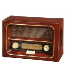 Radio AM/FM RECEIVER, lemn, maro