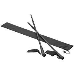 Set 2 bete din aluminiu pentru drumetie cu husa, Everestus, NA01, husa 210D poliester, negru, saculet sport inclus