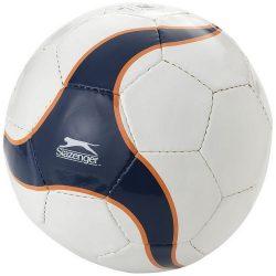 Minge de fotbal, marime 5, Slazenger by AleXer, LA01, latex, pvc, alb, albastru, breloc inclus din piele ecologica si metal