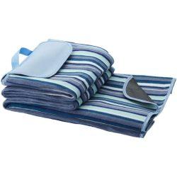 Patura picnic 145x130 cm, rezistenta la apa, Everestus, RA01, poliester, lana, alb, albastru, saculet de calatorie inclus