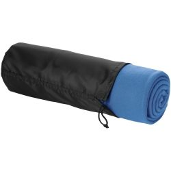 Patura picnic in husa cu snur 150x120 cm, Everestus, HY10, lana, albastru, saculet de calatorie inclus