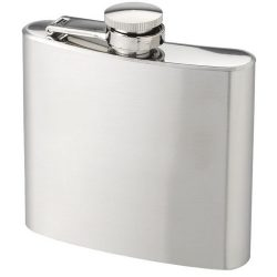 Tennessee 175 ml hip flask, Stainless steel, Silver