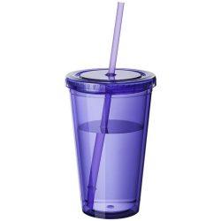 Cyclone 450 ml insulated tumbler with straw, BPA free acrylic, Purple