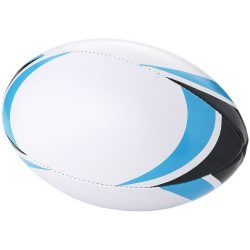 Stadium rugby ball, PVC, White, Blue