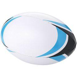 Minge de rugby, 2 layere, marime 5, Everestus, SM01, pvc, alb, albastru, desfacator de sticle inclus