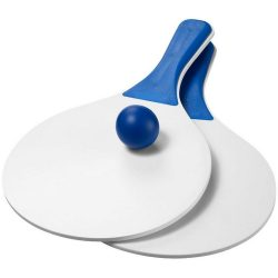 Matira beach paddle ball set, Wood, White, Blue