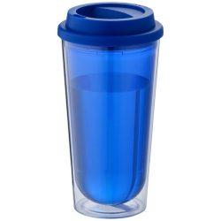 Kota 470 ml insulated tumbler, BPA free AS plastic body, PP plastic cap, Blue