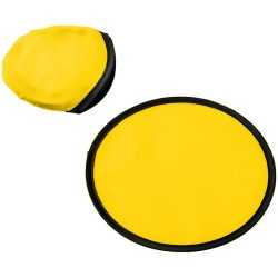 Florida frisbee with pouch, 210D polyester, Yellow