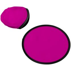 Florida frisbee with pouch, 210D polyester, Magenta