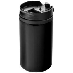 Cana termos 300 ml, perete dublu, Everestus, 20IAN2491, Negru, Otel, Plastic