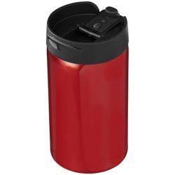 Cana termos 300 ml, perete dublu, Everestus, 20IAN2489, Rosu, Otel, Plastic