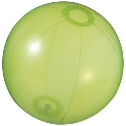 Ibiza transparent beach ball, PVC, Transparent green