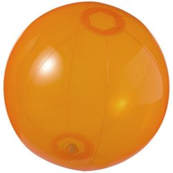 Minge de plaja gonflabila, transparenta, Everestus, EGB021, pvc, portocaliu