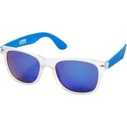 Ochelari de soare, US Basic by AleXer, OSSG008, policarbonat, acril, albastru, transparent, breloc inclus din piele ecologica