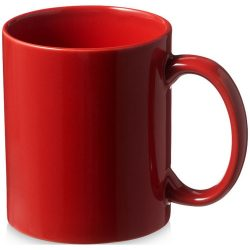 Santos 330 ml ceramic mug, Ceramic, Red