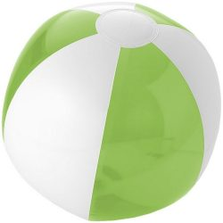 Bondi inflatable beach ball, PVC, Lime,White