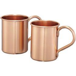 Moscow mule 415 ml mugs gift set, Copper coated aluminium, copper