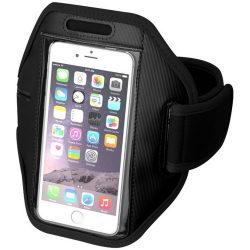Gofax touchscreen smartphone armband, Polyester, solid black