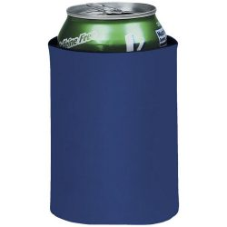 Crowdio insulated collapsible foam can holder, Polyester, Royal blue