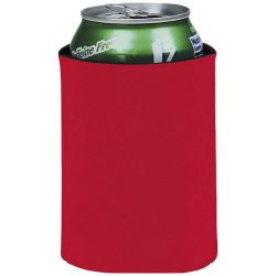 Crowdio insulated collapsible foam can holder, Polyester, Red