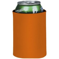 Crowdio insulated collapsible foam can holder, Polyester, Orange