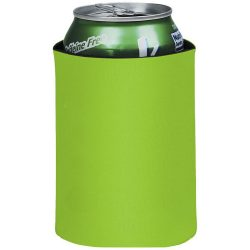 Crowdio insulated collapsible foam can holder, Polyester, Lime