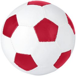 Minge de fotbal, dimensiune 5, Everestus, CE, pvc, alb, rosu