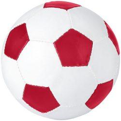 Minge de fotbal, marime 5, Everestus, CE03, pvc, alb, rosu, desfacator de sticle inclus
