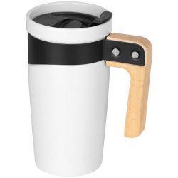Grotto 475 ml ceramic mug, Ceramic, White