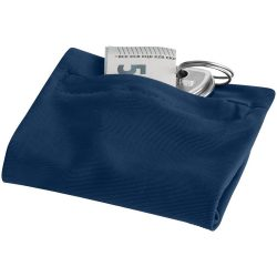 Squat wristband with zippered pocket, 70% Polyester and 30% Spantex, Navy