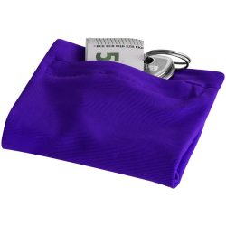 Squat wristband with zippered pocket, 70% Polyester and 30% Spantex, Purple