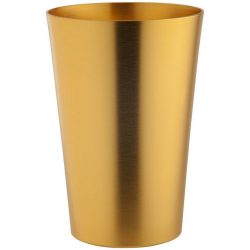 Pahar 400 ml, finisaj modern, Everestus, 20IAN2253, Galben, Aluminiu