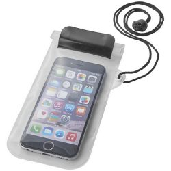 Mambo waterproof smartphone storage pouch, PVC, solid black,Transparent