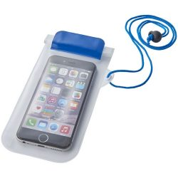 Mambo waterproof smartphone storage pouch, PVC, Blue,Transparent