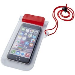 Mambo waterproof smartphone storage pouch, PVC, Red,Transparent