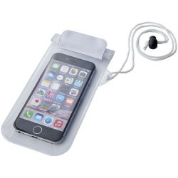 Mambo waterproof smartphone storage pouch, PVC, White