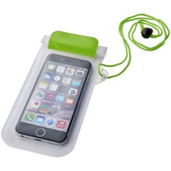 Mambo waterproof smartphone storage pouch, PVC, Green,Transparent