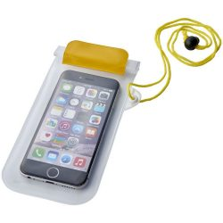 Mambo waterproof smartphone storage pouch, PVC, Yellow,Transparent