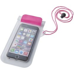 Mambo waterproof smartphone storage pouch, PVC, Pink,Transparent