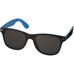 Sunray sunglasses with two coloured tones, PC plastic, Process Blue, solid black