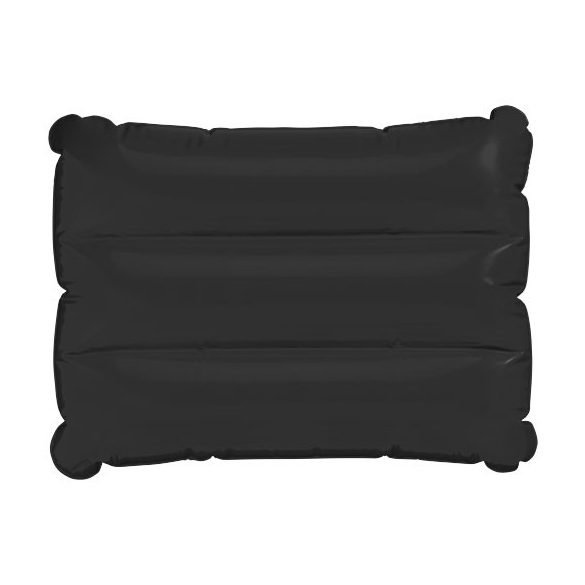 Wave inflatable pillow, PVC, solid black