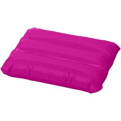 Wave inflatable pillow, PVC, Magenta