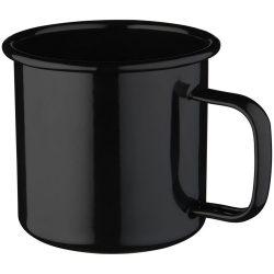 Campfire mug, Enamel, solid black